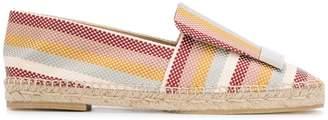 Sergio Rossi SR1 striped espadrilles