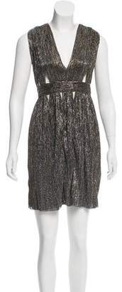 Bec & Bridge Metallic Halter Dress