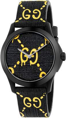 Gucci GG Rubber Strap Watch, 38mm