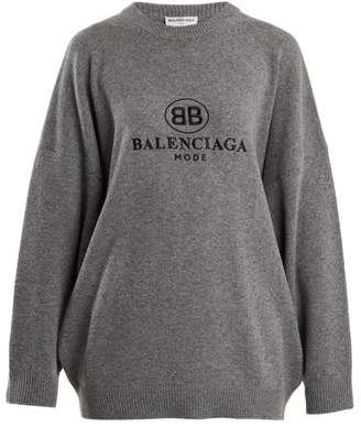 Balenciaga Embroidery Top - Womens - Grey