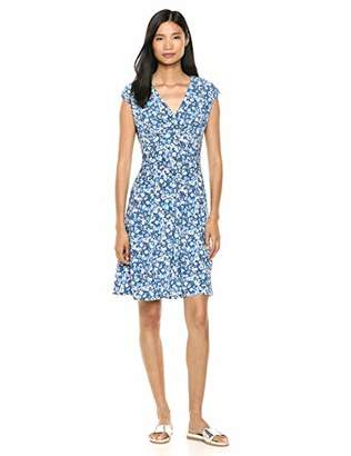 Chaps Women's Fit & Flare Floral Matte Jersey Dress