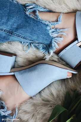 FOREVER 21+ Faux Suede Mules $24.90 thestylecure.com
