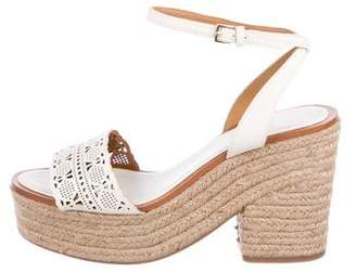 Tory Burch Leather Espadrille Flats