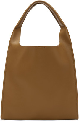 Maison Margiela Brown Leather Tote Bag $1,590 thestylecure.com
