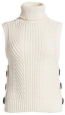 Derek Lam 10 Crosby Women's Sleeveless Knit Turtleneck Top