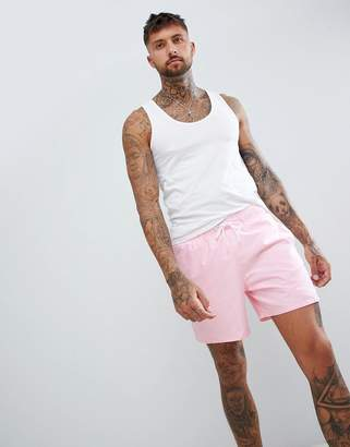 Hollister Magic Print Guard Swim Shorts Flamingos Come Out When Wet in Pink