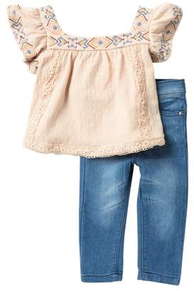 Jessica Simpson Top & Jeggings 2-Piece Set (Baby Girls)