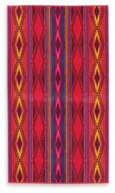 River Oversized Jacquard Beach Towel in Red