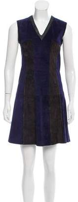 Derek Lam Suede Colorblock Dress