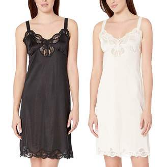 80f3bf78f27 Under Moments Women Full Cami Slip Camisole Dress Nightgown 2 Pack