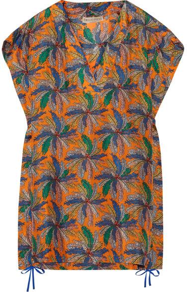 Emilio Pucci - Printed Silk Mini Dress - Saffron