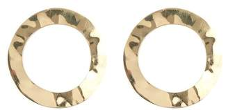Soko Hammered Finish Ring Post Earrings