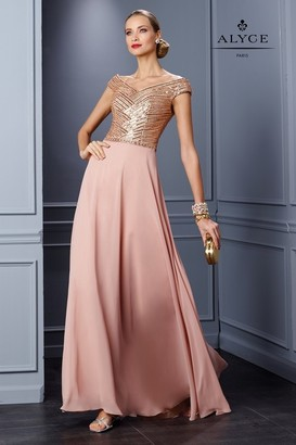 Alyce Paris Mother of the Bride - 29772 Dress in Dusty Rose $378 thestylecure.com