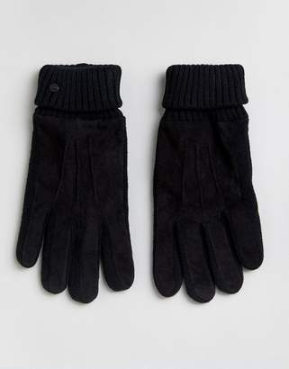 Esprit Gloves With Leather Patch