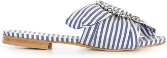 Emanuela Caruso striped mules