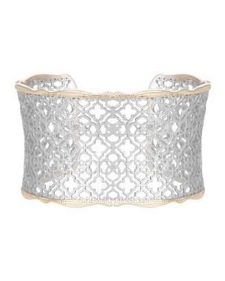 Kendra Scott Candice Mixed Metal Cuff Bracelet $75 thestylecure.com
