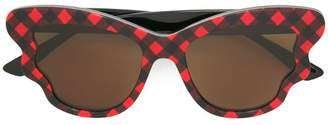 McQ Eyewear check detail sunglasses