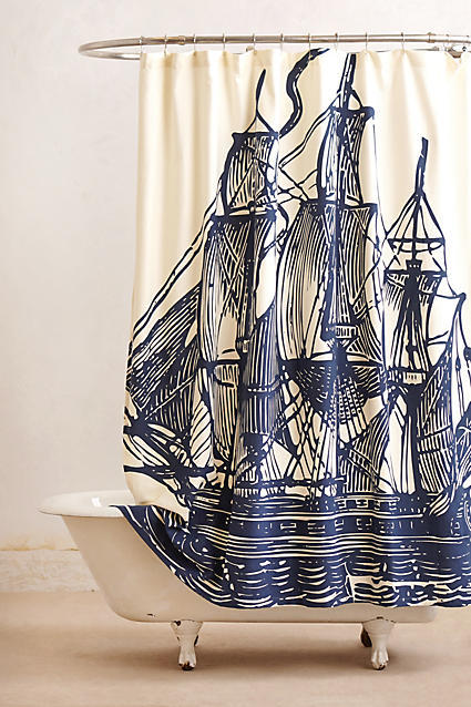 AnthropologieAnthropologie Elizabethan Sails Shower Curtain