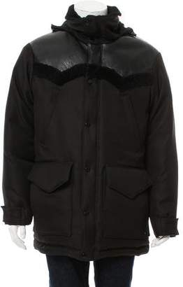 Alexander Wang Leather-Accented Quilted Coat