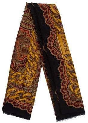 Chanel Silk & Cashmere Paisley Scarf