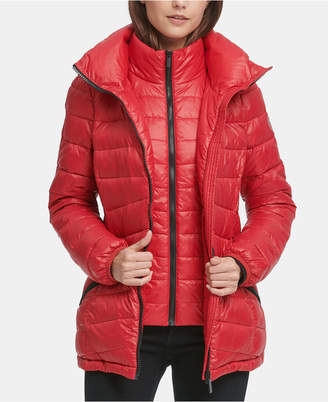 DKNY Hooded Packable Down Puffer Coat