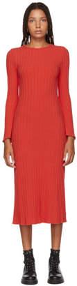 Simon Miller Red Stretch Wide Rib Wells Dress