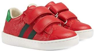 Gucci Kids GG embossed sneakers