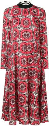RED Valentino printed mid-length dress