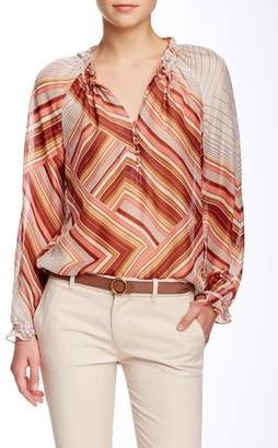 Robert Graham Connie Variegated Stripe Silk Blouse $268 thestylecure.com