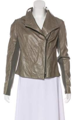 Vince Leather Asymmetrical Jacket