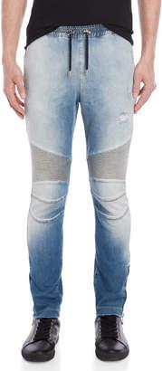 Balmain Drawstring Tapered Denim Pants