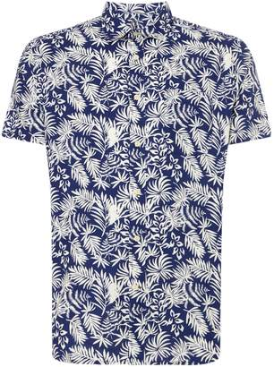 Howick Men's Leaf Print Short Sleeve Shirt