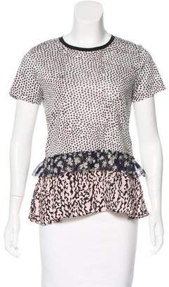 Schumacher Dorothee Printed Silk-Accented Top w/ Tags