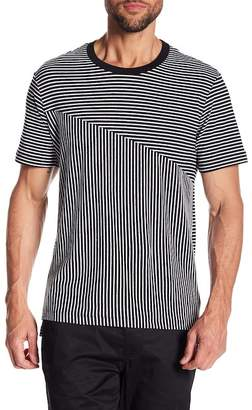 Kenneth Cole New York Blocked Stripe Crew Neck Tee