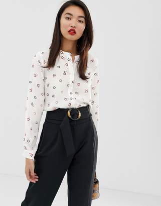 Warehouse shirt in horseshoe print