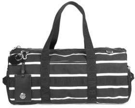 Balmain Mariniere Weekender Leather Bowling Bag
