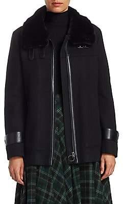 Akris Punto Women's Faux Fur Collar Jacket