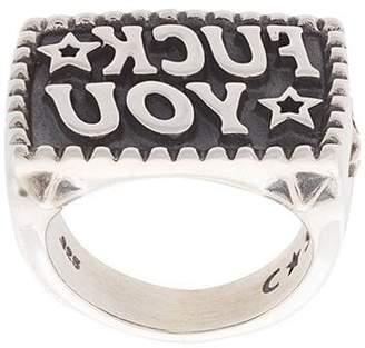 Sanderson Cody engraved lettering ring