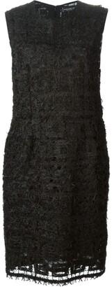 Jean Louis Scherrer Pre-Owned feather-knit dress