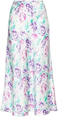 Rixo Kelly floral print midi skirt