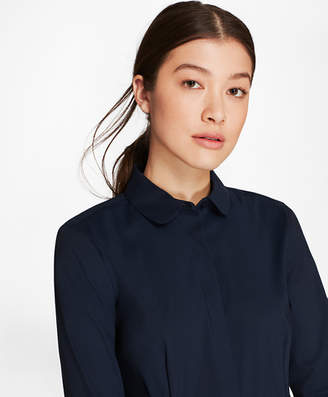 Brooks Brothers Non-Iron Stretch-Cotton Bishop-Sleeve Blouse