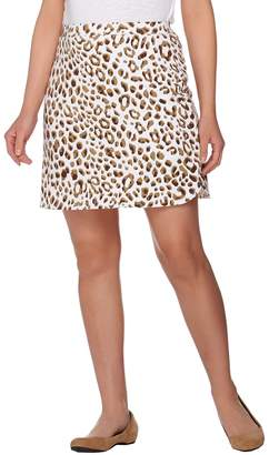 Susan Graver Weekend Printed French Terry A-Line Skort