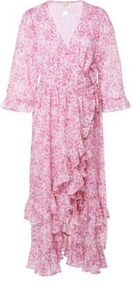 Banjanan Marta Printed Wrap-Effect Cotton Dress
