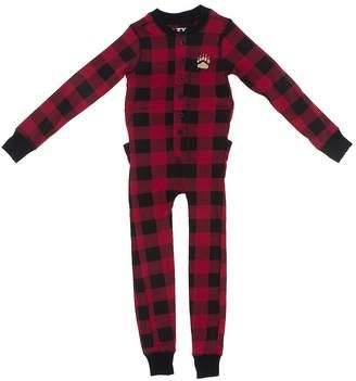 Lazy One Men's Bear Cheeks Flapjacks Union Suit