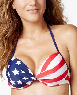 California Waves Flag-Print Push-Up Bikini Top $28 thestylecure.com