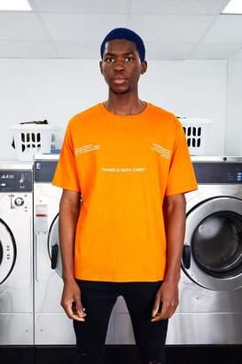 boohoo MAN Care Label Front & Back Print T-Shirt