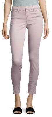 J Brand Mid-Rise Cropped Satin Jeans