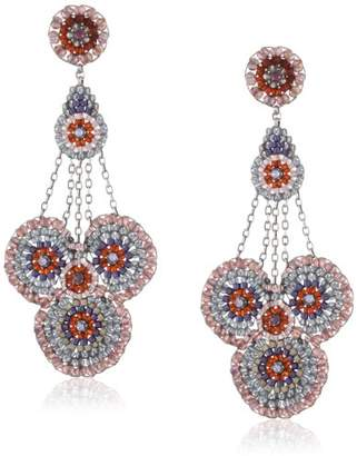 Miguel Ases Created Amethyst Quartz Chain Drop Earrings