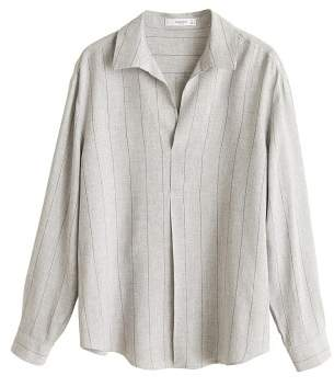 MANGO Striped flowy shirt