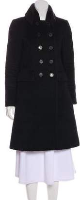 Burberry Wool & Mohair Long Coat